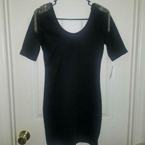 Black Short Sleeve Party Dress